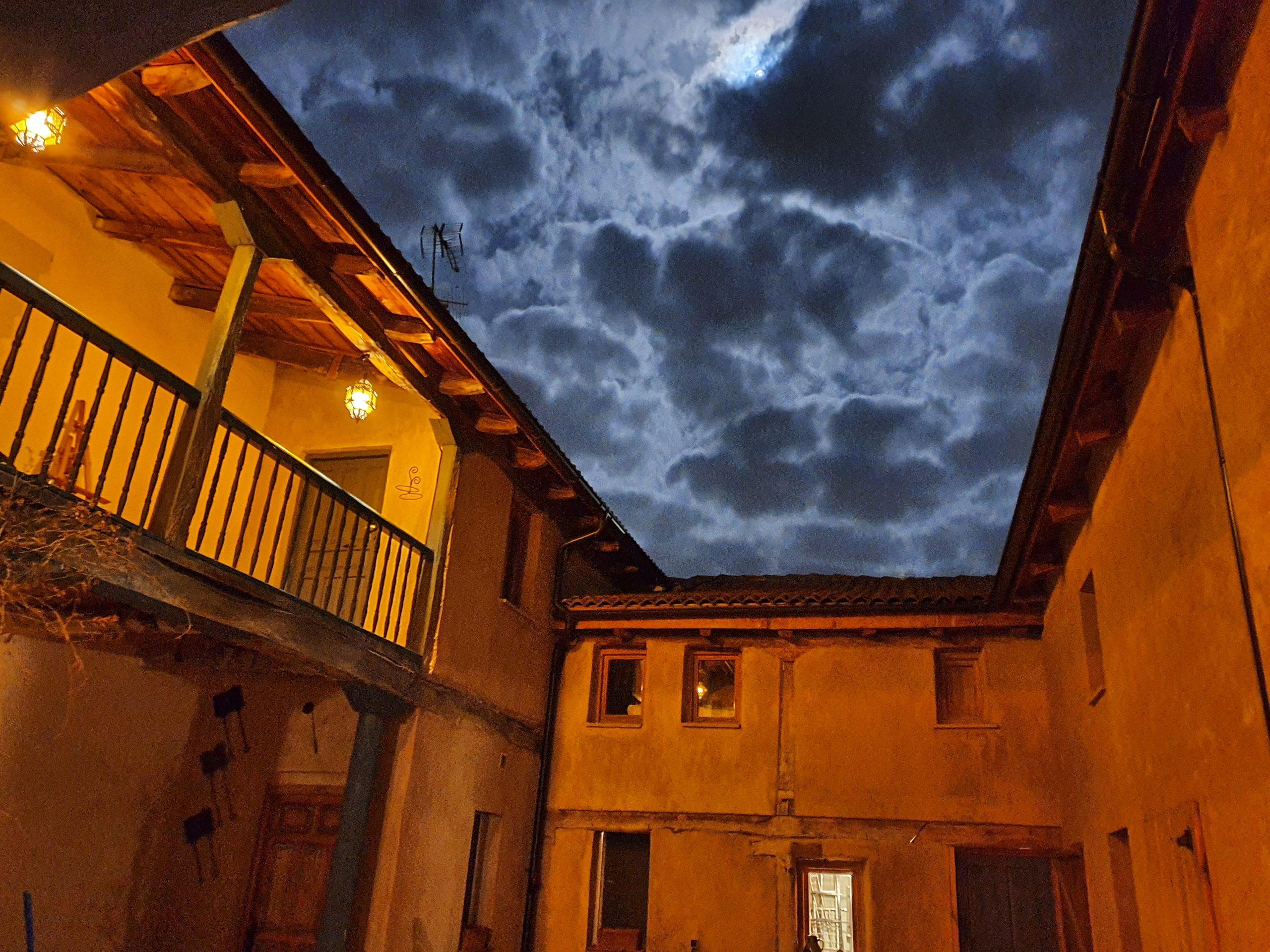 Patio by night
